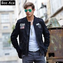 2016 Winter Brand Military Mens Jacket Men Army Pilot US Patchwork Design Jackets Slim Fit Casual Mens Jacket and Coat M-4XL