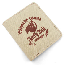 Folding PU+Canvas wallet printed with Japan Anime Fairy Tail Magic Association mark(China)