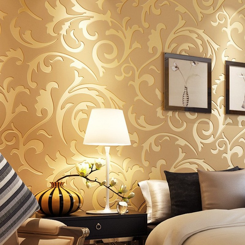 Free Shipping European style wallpaper bedroom living room TV background wall paper non - woven custom wallpaper<br>