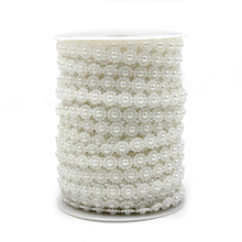 5 Meters Fishing Line Artificial Pearls Beads Chain Garland Flowers Wedding Party Decoration Products Supply