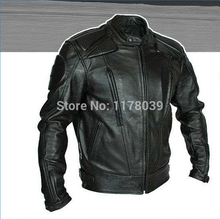2015 Newest men PU motorcycle jacket racing suits protection jacket Artificial leather jacekt high quality(China)