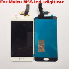 For Meizu M5S LCD Display Touch Screen Digitizer Panel Assembly meizu m5s mini lcd M612Q M612M M612h Display Replacement+tools(China)