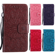 Buy 3D Sun Flower Wallet Flip Leather Phone Case Cover iPhone 8 5 5S SE 6 6S 7 Plus iPhone8 Stand Holder Card Pocket Strap Brown for $4.90 in AliExpress store