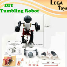 DIY Electric Tumbling Dacing Robot Model 3-Mode Assembly Robot Creative Science kit Educational Toy For Children(China)