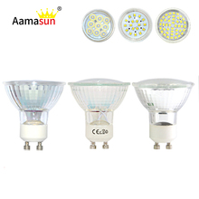 Wholesale AC220V Ultra Bright CREE Led Lamp GU10 Led spot Light SMD2835 9/18/44leds Spotlight led bulb lampada led Downlight
