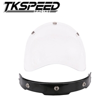 top quality motorcycle windshield for vintage helmet for harley style helmet jet style helmet bubble visor UV 400 Protection
