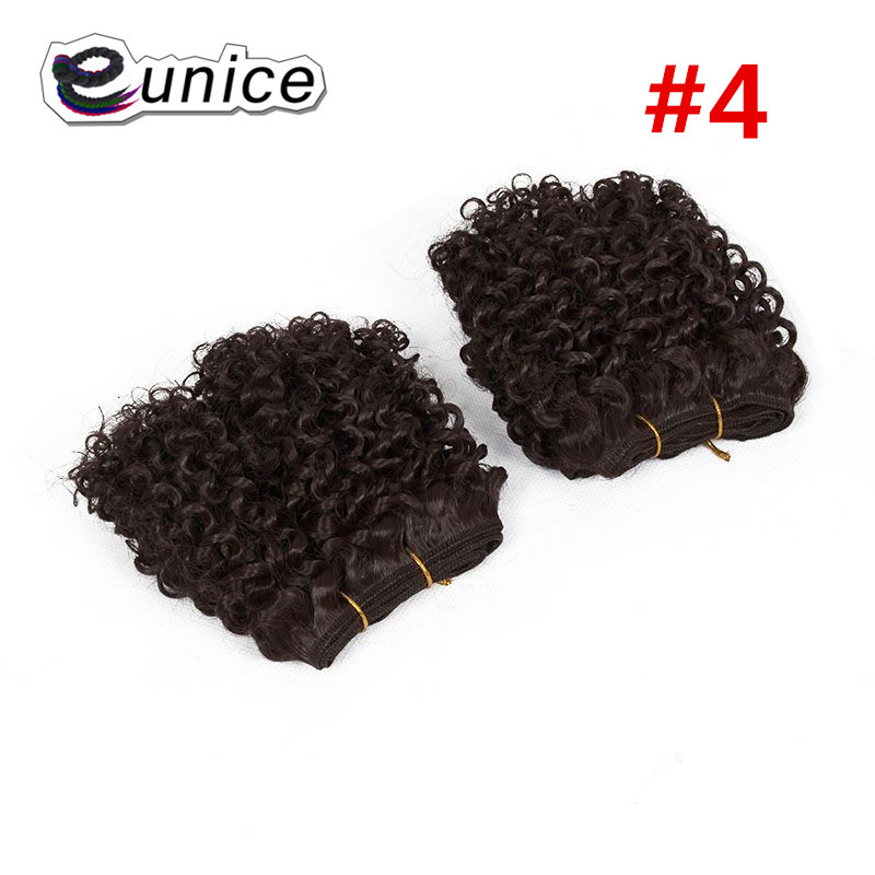 synthetic weaving 8INCH Jerry curly Braid ombre braiding hair weft extentions  (48)