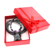 New Fashion Black  Carnelian Tortoise Necklace with Gift Boxes Women Purple  Natural Stone Onyx Pendants Necklaces Friends