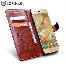 Huawei Honor 9 Case Cover TOMKAS Vintage PU Leather Wallet Case For Huawei Honor 9 Phone Bag Cover Flip Style with Stand(China)