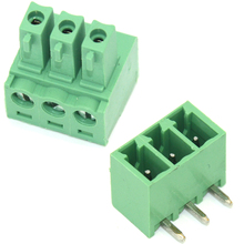 30 sets 15EDGK-3.81 3pin Right angle Terminal plug type 300V 10A 3.81mm pitch connector pcb screw terminal block connector