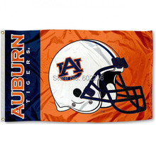 NCAA Auburn Tigers College Football Helment College Flag 3X5(China)