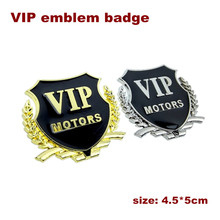 VIP Chrome Metal Emblems Badge Car Decal Auto Decoration For Peugeot BMW AUDI VW FORD TOYOTA Car Styling Accessories