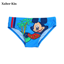 New 2017 Boys Cartoon Swimming Trunks Baby Boys Beach Swimsuit 1-3years Baby Boys Swim Suits Kids Trunks K367-CGR1(China)
