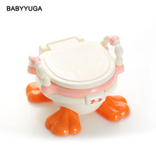 Kawaii Baby Travel Potty Training Orinal Multifunctional Baby Plastic Toilet Seat Cute Duck Comfortable Toilet Chair For Kids