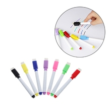 5Pcs/Set Brand New Magnetic Whiteboard Pen Erasable Dry White Board Markers Magnet Built In Eraser Office School Supplies