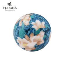 Harmony Bola Elegant Flower Painting Sound bell Chime Ball 20mm inner Ball fit Angel Caller Locket Cage Pregnant Jewelry(China)