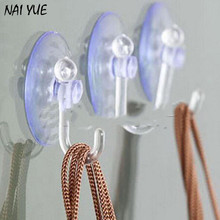 NAI YUE 10Pcs Bathroom Kitchen Wall Strong Suction Cup Hook Hangers Vacuum Sucker Clear