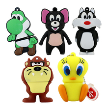 usb flash drive pen drive 64gb duck/frog/tiger/cat of Cute Cartoon pen drive 16GB flash memory stick drive u disk pendrive