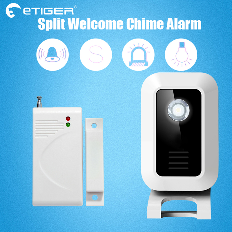 Etiger Welcome device Shop Store Home Welcome Chime Wireless Infrared IR Motion Sensor Door bell Alarm Entry Doorbell Reach <br>