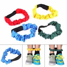 Two People Three-legged Ropes Elastic Sport Tie Rope Foot Running Race Game Children Kids Cooperation Training Outdoor Game Toys(China)