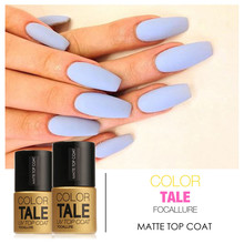 FOCALLURE Products 1pc 12ml Matt Varnish Matte Top Coat Nail Gel Polish Nail Art Finish Top Coat Gel Lacquer Matt Top Gel(China)