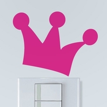 Beautiful fruit wall sticker small Crown switch sticker cartoon cute wall decoration ideas decorating kids room outlet post