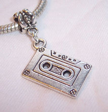 100pcs Ancient Silver Cassette Tape Music Dangle Charms Beads fit European Style Bracelets 39x22mm TY523