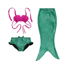 Girl Cosplay maid Tail custome Baby girl kids maid Tail fancy green Dress Swimmable Bikini Set Sexy Bathing Suit Christmas(China)