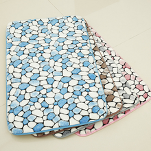 New 1PC Thick Anti-slip Pebbles Natural Coral Fleece Bathroom Mats Carpet Super Absorbent  Bedroom Entrance Door Rugs Easy Clean