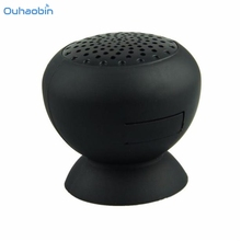 Ouhaobin Mini Mushroom Suction Bluetooth Speaker Fresh Wireless Speaker Hands Free Silicone Material Great Sounder Sep19(China)