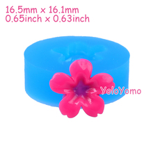 H037YL 16.5mm Mini Flower Silicone Mold - Fondant, Sugarcraft, Scrapbooking, Baking Tools, Jewelry, Resin Clay, Candy, Oven Safe