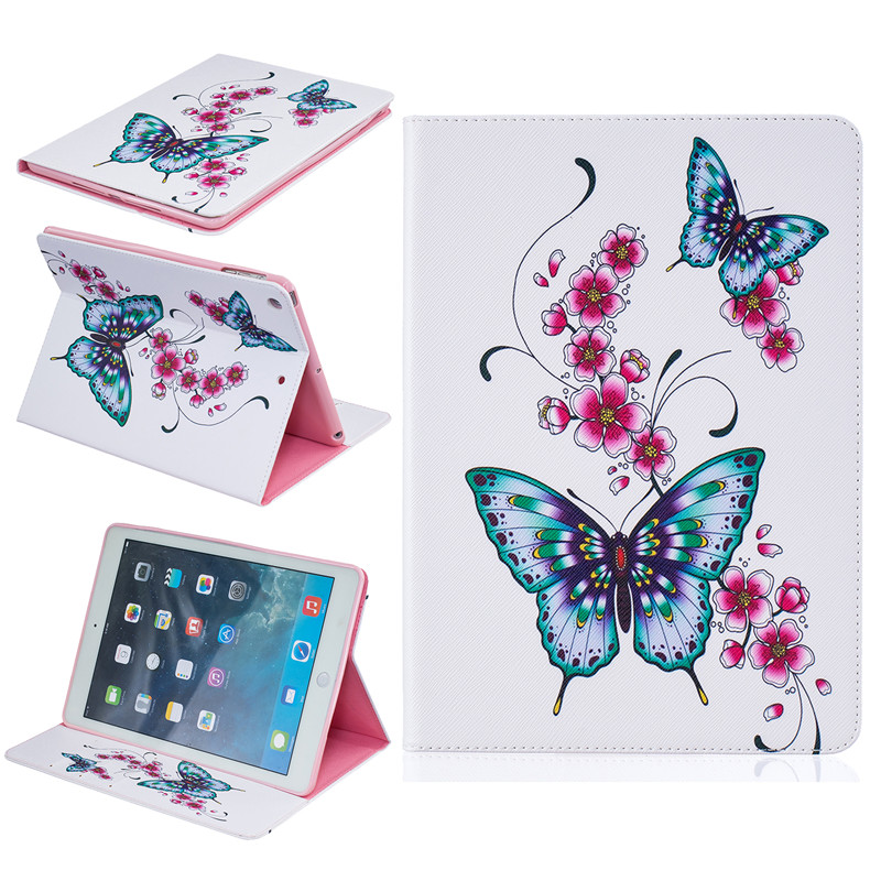For Apple iPad Air Case Beautiful Cute Print Cover For iPad 5 Stand PU Leather Phone Bag Magnetic Smart Shell Case Women Wallet<br><br>Aliexpress