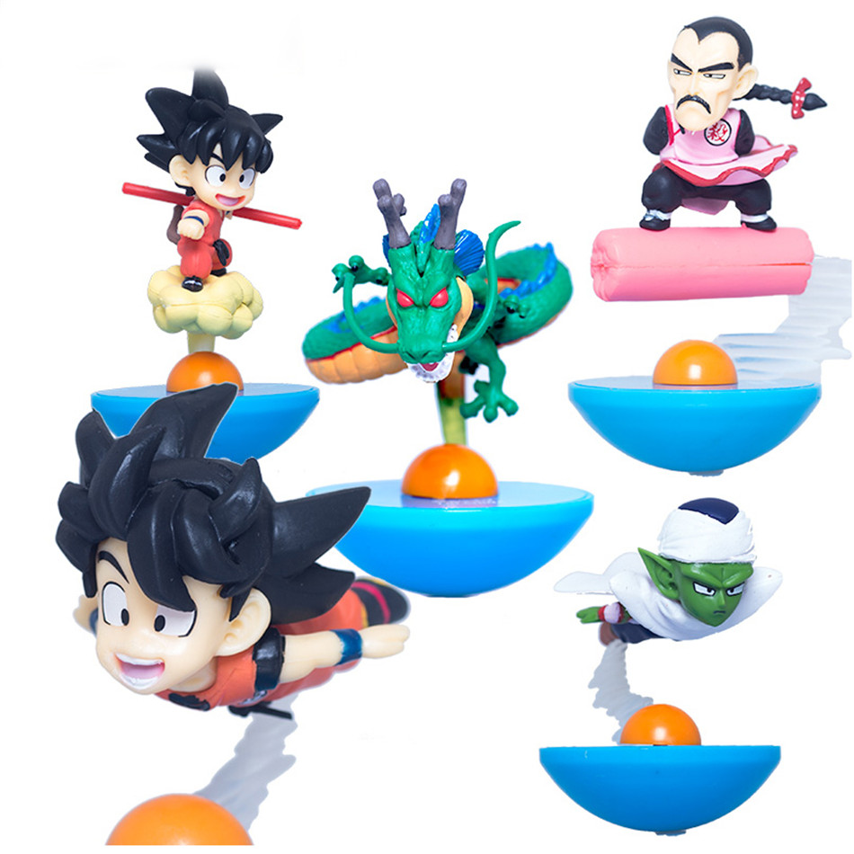 Chanycore Anime 5pcs/set Tumbler Dragon Ball Z roly-poly Son Goku Vegeta Freeza Frisa Beerus Cute MegaHouse YuraCole Series<br>