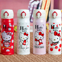 Kitty cat cartoon mug stainless steel bullet vacuum insulation Cup lid liner 304 spot mixed batch