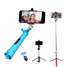 Monopod SelfieStick Bluetooth With Button Pau De Palo Selfie Phone Holder For Android iPhone 6s Samsung Accessories Tutucu Stand(China)