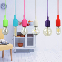 Modern Pendant Lights 12 Colors DIY Lighting Multi-color Silicone E27 Bulb Holder Lamps Home Decoration