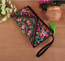 2016 Hot Women's embroidery Handbags!National trend handmade Floral embroidered messenger bag double-faced embroidery tassel bag