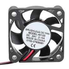 High Quality Wholesale 24V Cooler 40x10mm Brushless DC Fan 7 Blades Mini Computer Cooling Fan Radiator