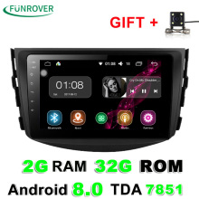 Funrover 2g+32g Android 8.0 Car Dvd For Toyota Rav4 2007 2008 2009 2010 2011 Radio Stereo Gps Navigation With Steering Wheel(China)