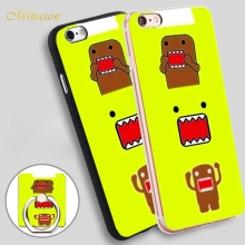 Minason Super Cute Domo Kun Soft TPU Silicone Phone Case Cover for iPhone X 8 5 SE 5S 6 6S 7 Plus(China)