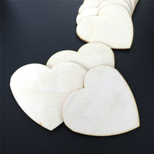 2pcs/pack J411 Heart-shaped Wood Plank Artificial Primary Color Wood Board DIY Handwork Making Model Woodworking Gifts