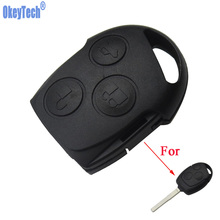 Okey Tech For Ford Mondeo And Focus Remote Car Case Car Head Fob Free Shipping Cover Case Without Blade Without Chip Replacement