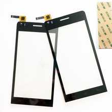 4.5 inch Touchscreen For Explay Tornado Touch screen Digitizer Front Panel Sensor Glass Lens Replacement with 3m sticker
