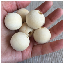 YUMUZ 10 size   Unfinished Wooden Beads Natural wood  teething beads  jewelry making handmade 5-200pcs
