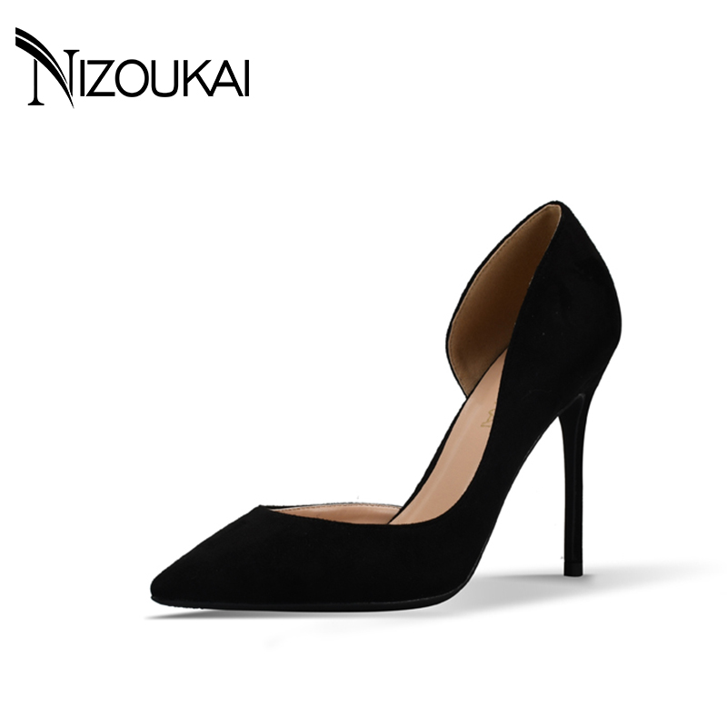 2017 High Heels Women Pumps Womens Shoes Winter Shoes Women Pumps Sexy Thin Heels Footwear Women Sapato Femini Shoes  d02-r10<br>
