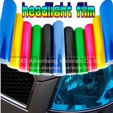 Cheapest 30x100CM Car headlights taillights lights tint protective Film Headlight color change tint film by free shipping