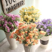 1Bunch Artifical Flower Grass Bouquet Flocking Plastic Cure Rural Country Style Wedding Party Home Decorative BQ001(China)