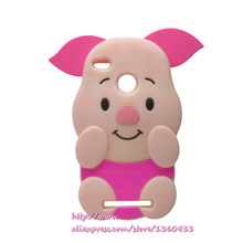 Soft silicone phone cover case For Redmi3S 3 S Pro / Prime 3X 3D cute cartoon rose red big ears pig