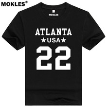 KEANU NEAL 22 atlanta custom made name number t shirt webster florida t-shirt team usa black white blue print text word clothing(China)