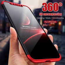 Buy Luxury 360 Degree Protection Case iPhone X Case Plastic Hard Back Cover iPhone 10 X 8 7 6 6S Plus Case Coque Capa for $2.88 in AliExpress store